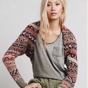 Free People Long Sleeve Cardigan Sweater Shrug